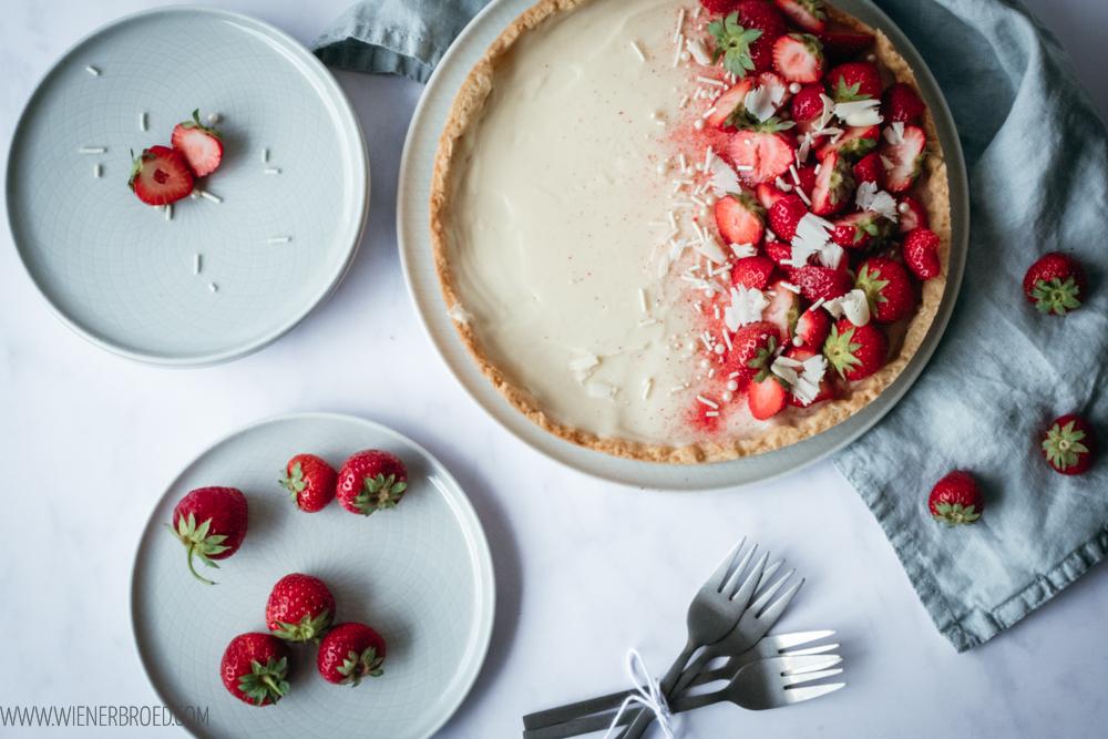 Erdbeer-weiße Schokolade-Tarte | © Katharina Laurer